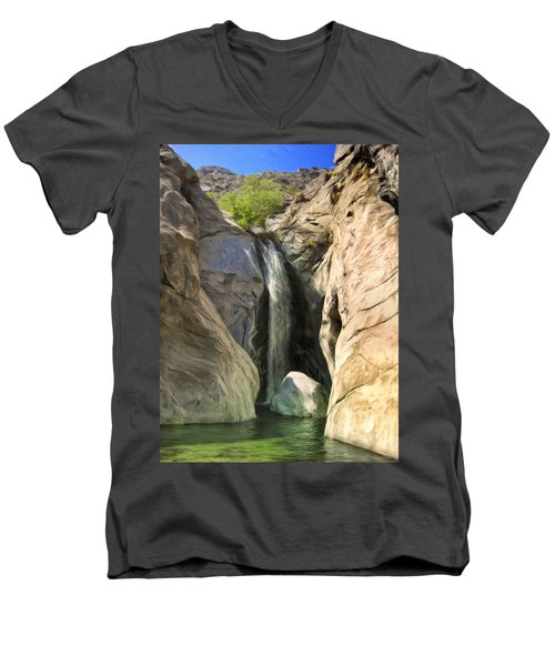 Tahquitz Falls Men's V-Neck T-Shirt