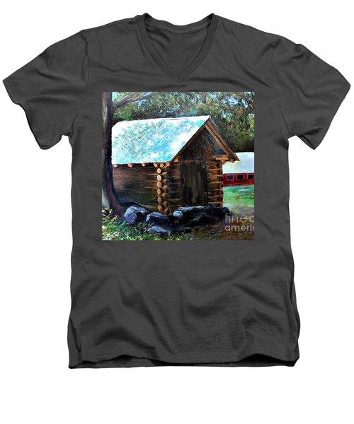 Tessentee Cabin Men's V-Neck T-Shirt