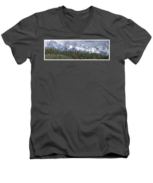 Tetons Panorama Men's V-Neck T-Shirt