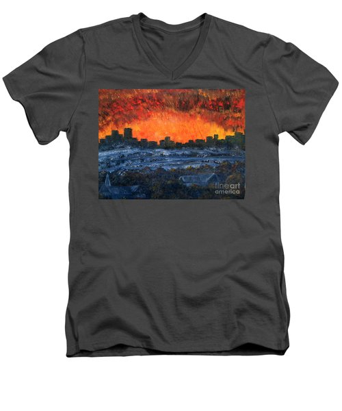 The Night The Lights Went Out Men's V-Neck T-Shirt