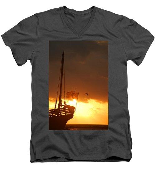 The Nina  Men's V-Neck T-Shirt by Leticia Latocki