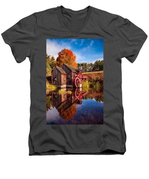 The Old Grist Mill Men's V-Neck T-Shirt