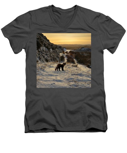 The Pine Marten's Path Men's V-Neck T-Shirt
