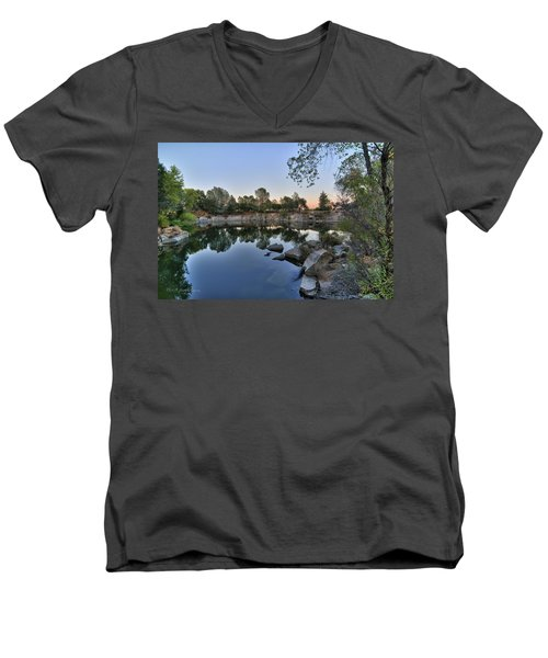 Men's V-Neck T-Shirt featuring the photograph The Quinn Quarry by Jim Thompson