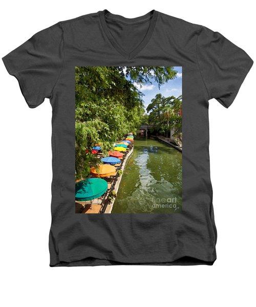 The River Walk Men's V-Neck T-Shirt