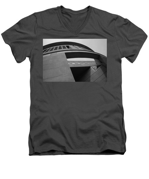 Men's V-Neck T-Shirt featuring the photograph The United States Holocaust Memorial Museum by Cora Wandel