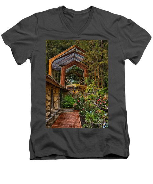 The Wayfarers Chapel Men's V-Neck T-Shirt