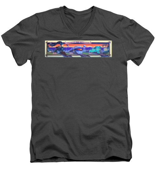 Trains Of Pine Mountain Men's V-Neck T-Shirt