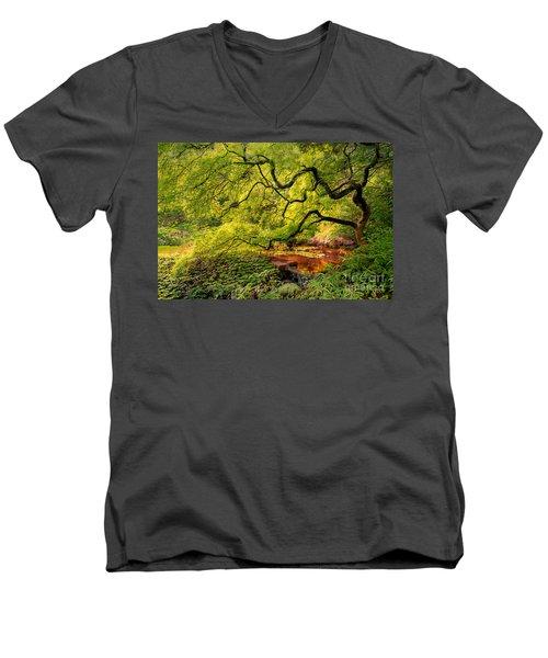 Tranquil Shade Men's V-Neck T-Shirt