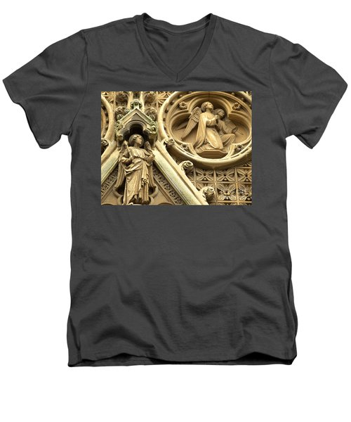Truro Cathedral Men's V-Neck T-Shirt by Rachel Mirror