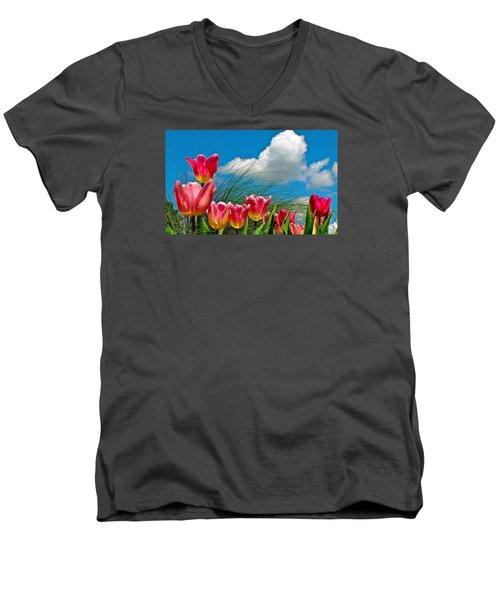 Flower 8 Men's V-Neck T-Shirt