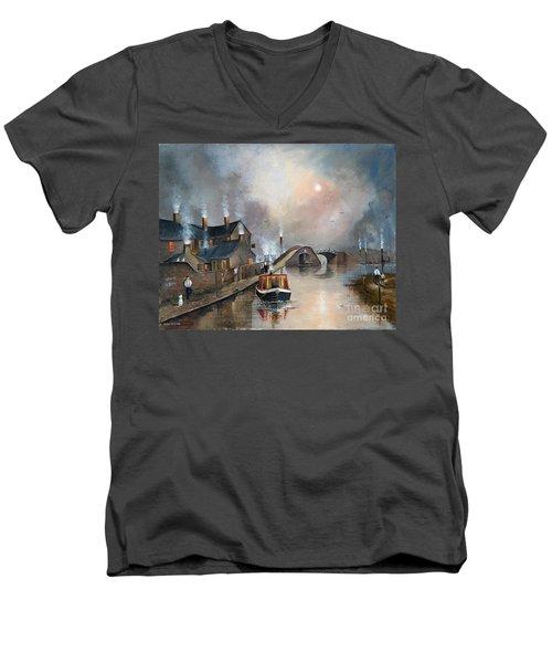 Twilight Departure Men's V-Neck T-Shirt