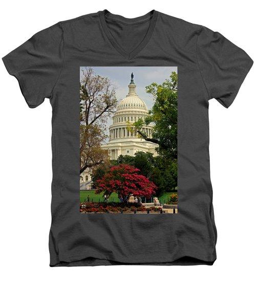 United States Capitol Men's V-Neck T-Shirt
