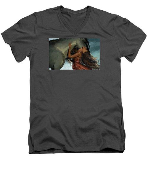 Unity Men's V-Neck T-Shirt by Kate Black