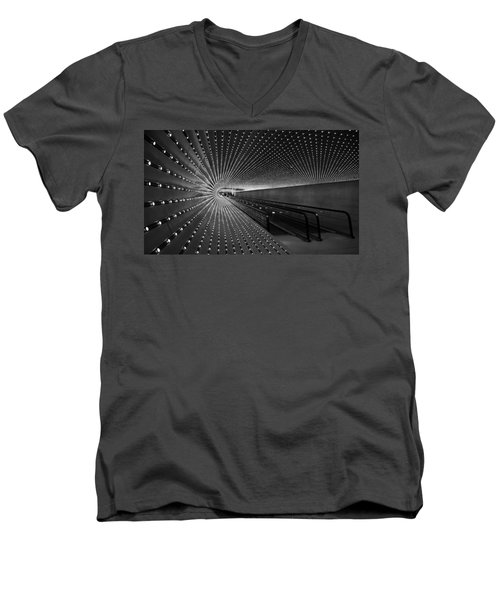 Men's V-Neck T-Shirt featuring the photograph Villareal's Multiuniverse by Cora Wandel