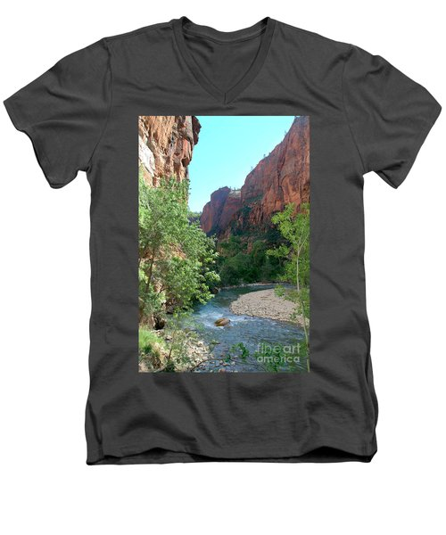 Virgin River Rapids Men's V-Neck T-Shirt