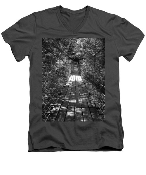 Walk Through Woods Men's V-Neck T-Shirt