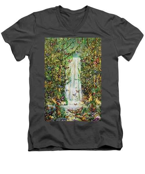 Waterfall Of Prosperity II Men's V-Neck T-Shirt
