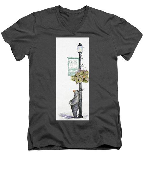 Welcome To Bozeman Men's V-Neck T-Shirt
