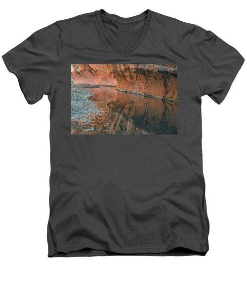 West Fork Reflection Men's V-Neck T-Shirt