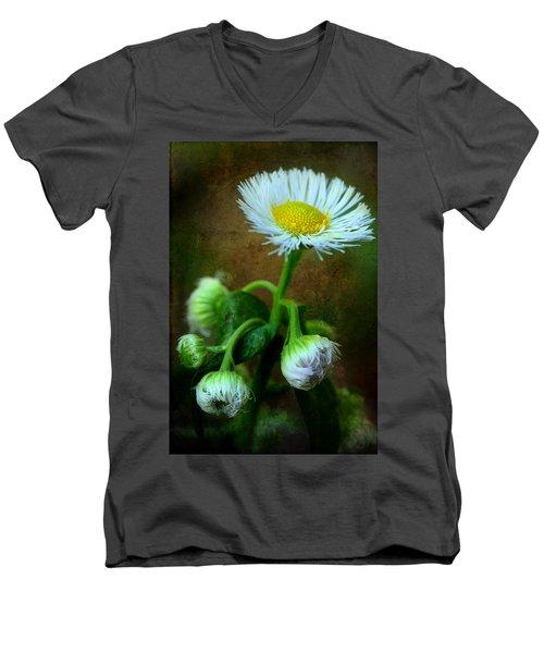 We've Only Just Begun Men's V-Neck T-Shirt by Michael Eingle