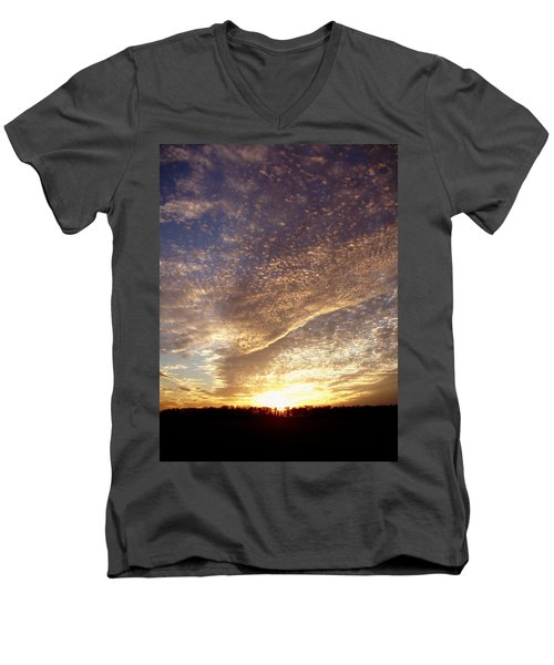 Men's V-Neck T-Shirt featuring the photograph Wild Sky 2 by Cynthia Lassiter