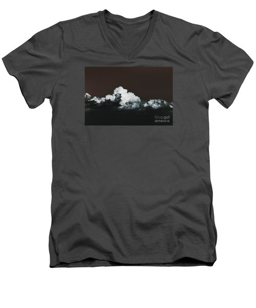 Men's V-Neck T-Shirt featuring the photograph Words Mean More At Night by Dana DiPasquale