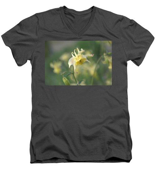 Yellow Columbine Men's V-Neck T-Shirt