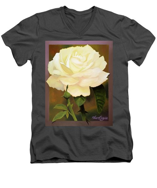 Yellow Rose Men's V-Neck T-Shirt by Blue Sky