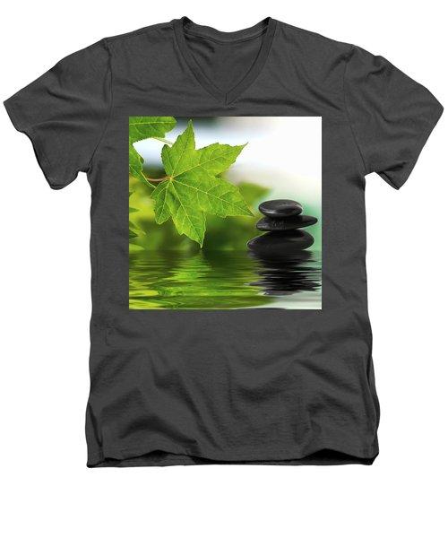 Zen Stones On Water Men's V-Neck T-Shirt