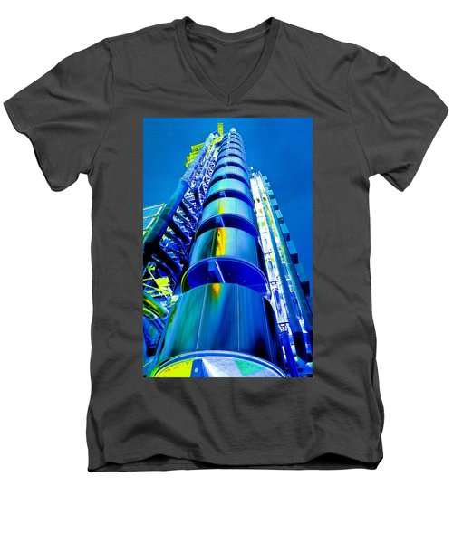 Lloyd's Building London Art Men's V-Neck T-Shirt