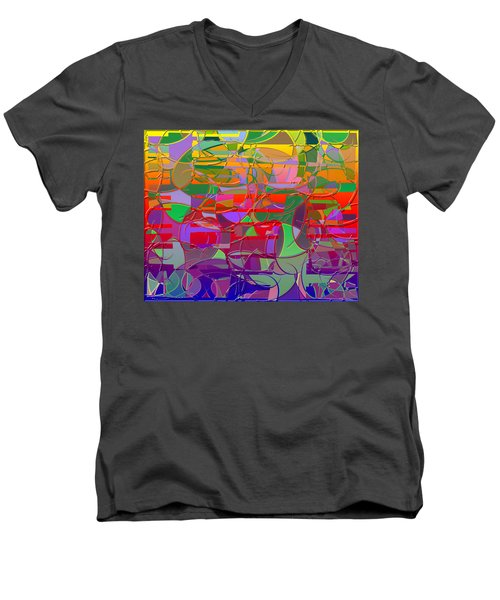 1021 Abstract Thought Men's V-Neck T-Shirt