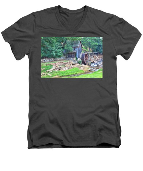 Sixes Mill On Dukes Creek Men's V-Neck T-Shirt