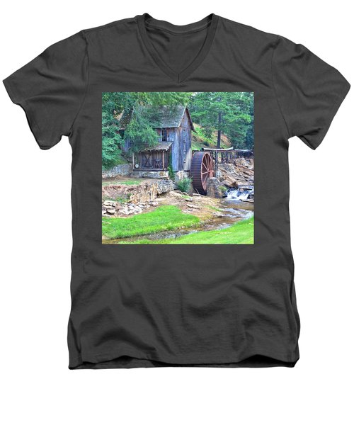 Sixes Mill On Dukes Creek - Square Men's V-Neck T-Shirt