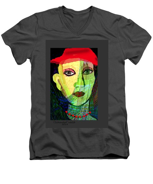 1084 - La  Signora ... Men's V-Neck T-Shirt by Irmgard Schoendorf Welch