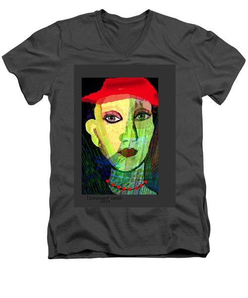 1084 - La  Signora ... Men's V-Neck T-Shirt