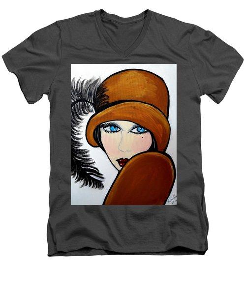 Art Deco  Gail Men's V-Neck T-Shirt