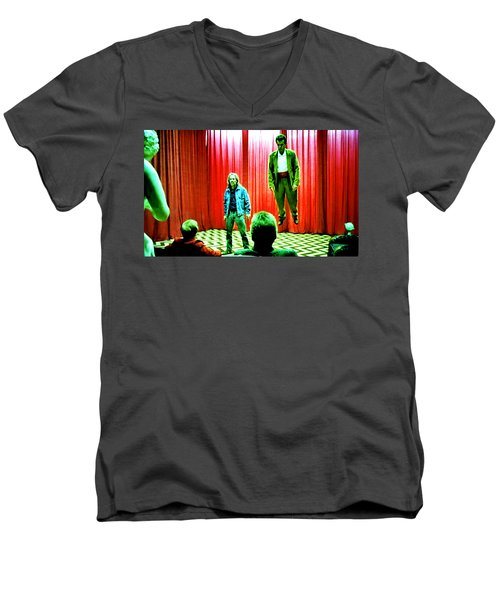 Black Lodge Men's V-Neck T-Shirt