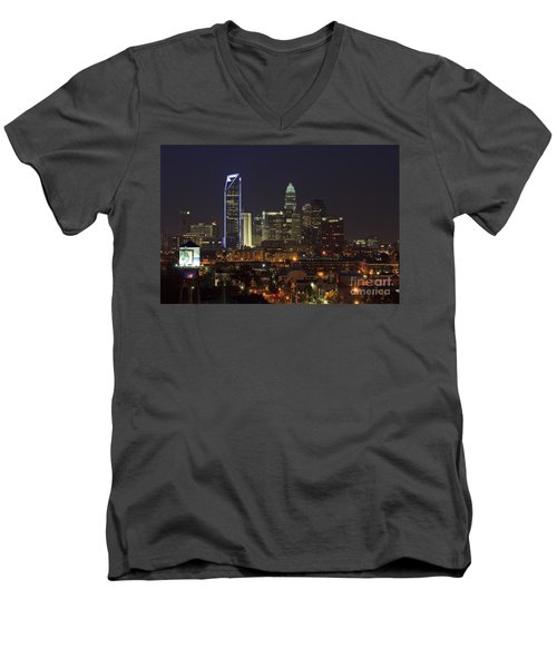 Charlotte Skyline Men's V-Neck T-Shirt