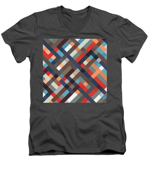 Geometric Men's V-Neck T-Shirt