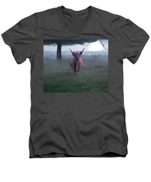 11. Highland Men's V-Neck T-Shirt