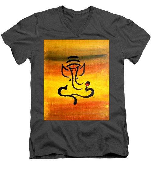 11 Nandana- Son Of Lord Shiva Men's V-Neck T-Shirt