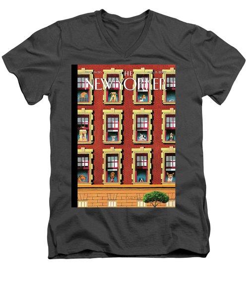 Hot Dogs Men's V-Neck T-Shirt