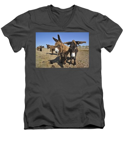 Men's V-Neck T-Shirt featuring the photograph 120920p029 by Arterra Picture Library