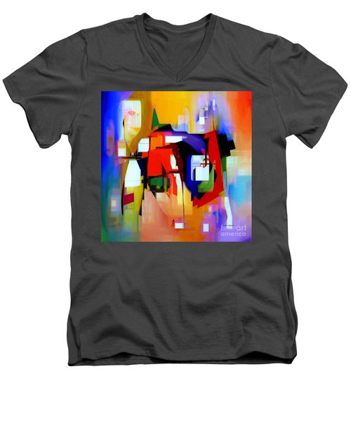 Abstract Series Iv Men's V-Neck T-Shirt