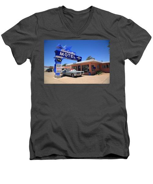 Route 66 - Blue Swallow Motel Men's V-Neck T-Shirt