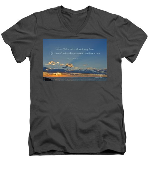 149- Ralph Waldo Emerson Men's V-Neck T-Shirt