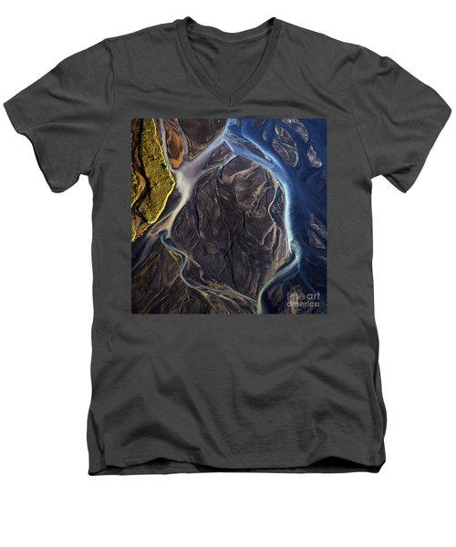 Aerial Photo Men's V-Neck T-Shirt by Gunnar Orn Arnason