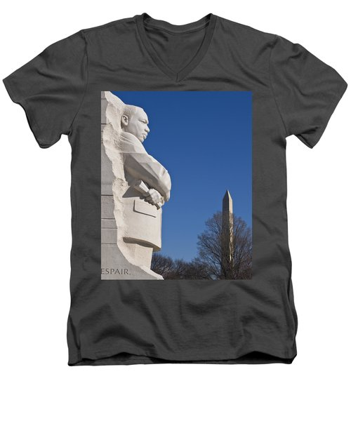 Martin Luther King Jr Memorial Men's V-Neck T-Shirt