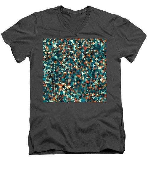 Retro Pixel Art Men's V-Neck T-Shirt